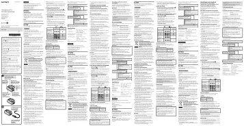 Sony ACC-TRW - ACC-TRW Consignes d'utilisation