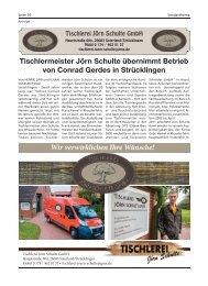Tischlerei Jörn Schulte | Bürgerspiegel