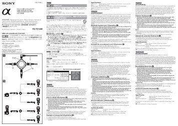 Sony FA-TC1AM - FA-TC1AM Consignes d'utilisation Néerlandais