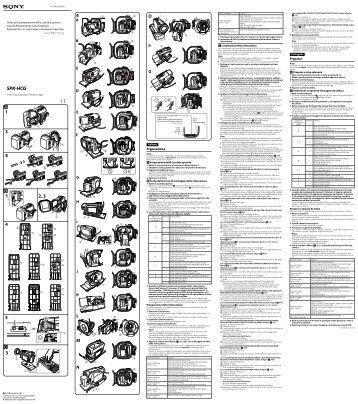 Sony SPK-HCG - SPK-HCG Consignes d'utilisation Russe