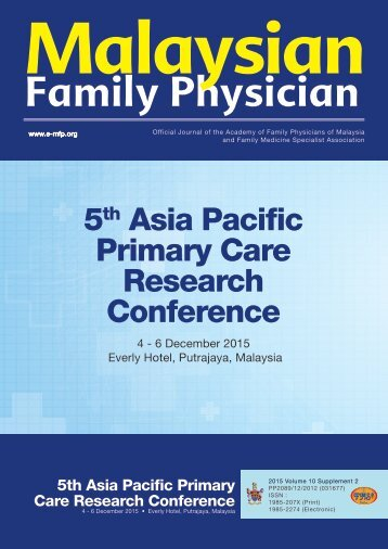 5 Asia Pacific Primary Care Research Conference