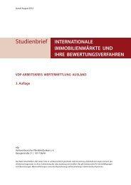VDP-ARBEITSKREIS WERTERMITTLUNG AUSLAND 3. Auflage
