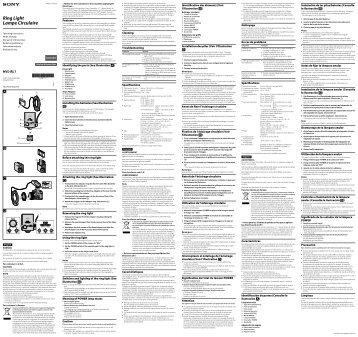 Sony HVL-RL1 - HVL-RL1 Consignes d'utilisation Allemand