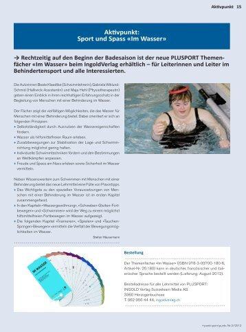 Aktivpunkt: Sport und Spass «Im Wasser» - PLUSPORT ...