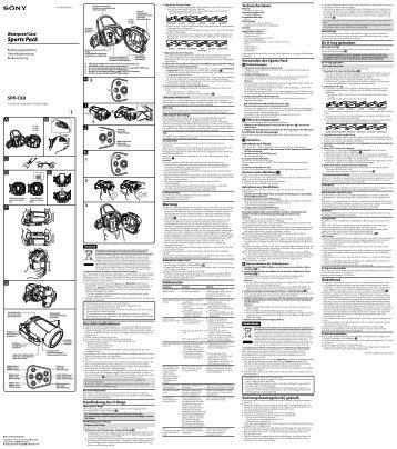 Sony SPK-CXA - SPK-CXA Consignes d'utilisation Allemand