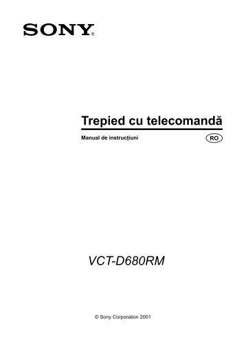 Sony VCT-D680RM - VCT-D680RM Mode d'emploi Roumain