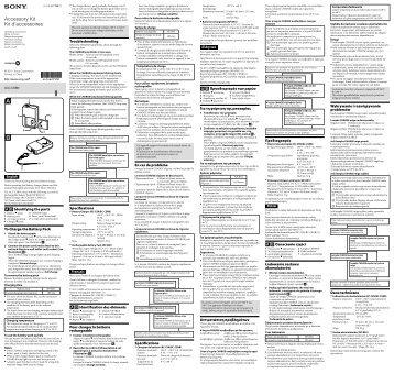 Sony ACC-CSBN - ACC-CSBN Mode d'emploi Danois