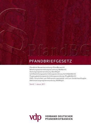 Pfandbriefgesetz (PfandBG) - Verband deutscher Pfandbriefbanken