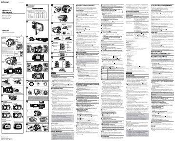 Sony MPK-WF - MPK-WF Consignes d'utilisation Néerlandais