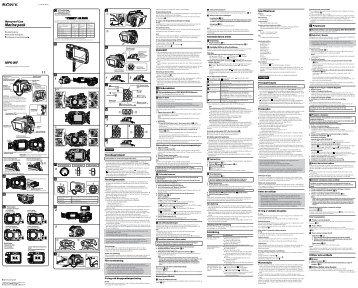 Sony MPK-WF - MPK-WF Consignes d'utilisation Portugais