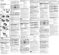 Sony BC-TRX - BC-TRX Mode d'emploi Suédois