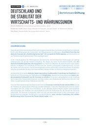 DEUTSCHLAND UND DIE STABILITÄT DER WIRTSCHAFTS- UND WÄHRUNGSUNION