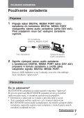 Sony TDM-BT1 - TDM-BT1 Consignes d'utilisation Slovaque - Page 7