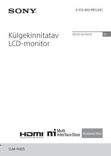 Sony CLM-FHD5 - CLM-FHD5 Consignes d'utilisation Estonien