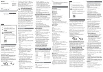 Sony PHA-3AC - PHA-3AC Guide de référence Letton