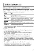 Sony TDM-NW10 - TDM-NW10 Consignes d'utilisation Slovaque - Page 7