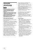 Sony MRW-EA7 - MRW-EA7 Mode d'emploi Turc - Page 2