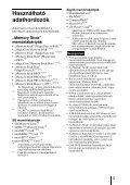 Sony MRW-EA7 - MRW-EA7 Mode d'emploi Hongrois - Page 5