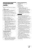 Sony MRW-EA7 - MRW-EA7 Mode d'emploi Néerlandais - Page 5