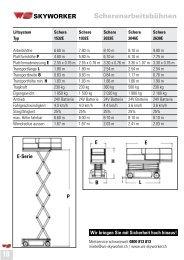 11.8 m AH Batteriebetrieben - WS-Skyworker