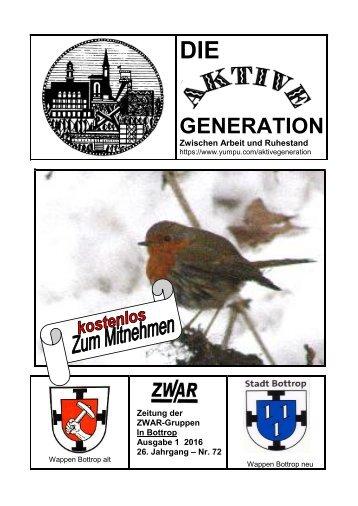 ZWAR-Zeitung Ausgabe 1  2016 neu