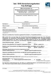 ias / SVS-Versicherungskarten Fax-Anfrage - IAS Internationale ...