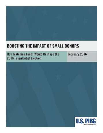 BOOSTING THE IMPACT OF SMALL DONORS
