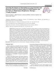 Assessing the Impact of Tiotropium on Lung Function and Physical ...