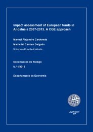 Impact assessment of European funds in Andalusia 2007-2013 A CGE approach