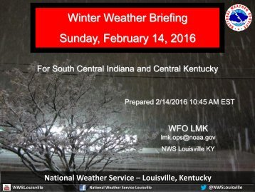Winter Weather Briefing Sunday February 14 2016