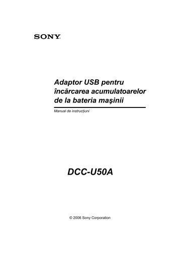 Sony DCC-U50A - DCC-U50A Mode d'emploi Roumain