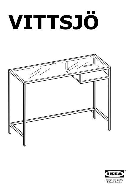 Ikea Tavolo Pc.Ikea Vittsj Amp Ouml Scaffale Tavolo Per Pc Portatile