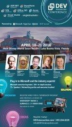APRIL 18–21 2016