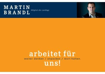Martin Brandl arbeitet für uns