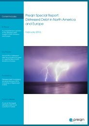 Preqin Special Report Distressed Debt in North America and Europe