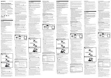 Sony MRW-F3 - MRW-F3 Consignes d'utilisation Anglais