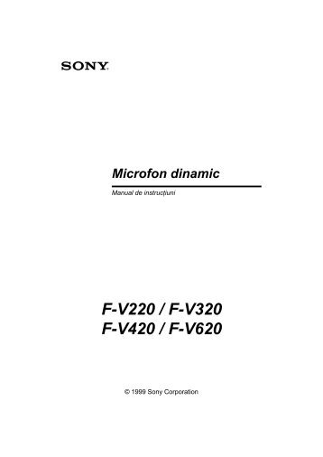 Sony F-V220 - F-V220 Consignes d'utilisation Roumain