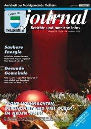 Berichte und amtliche Infos - Thalheim bei Wels