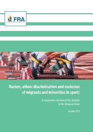Racism, ethnic discrimination and exclusion of migrants and ...