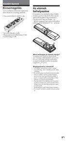 Sony RM-VL1400T - RM-VL1400T Consignes d'utilisation Hongrois - Page 5