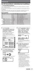 Sony RM-VL1400T - RM-VL1400T Consignes d'utilisation Hongrois - Page 7