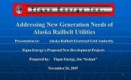 "Repowering of Knik Arm Power Plant [""KAPP""] - Alaska Energy ..."