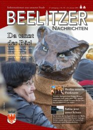 Beelitzer Nachrichten - Januar 2016