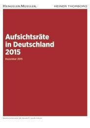 Aufsichtsräte in Deutschland 2015
