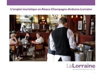L'emploi touristique en Alsace-Champagne-Ardenne-Lorraine