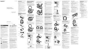 Sony MDR-RF4000K - MDR-RF4000K Consignes d'utilisation Bulgare