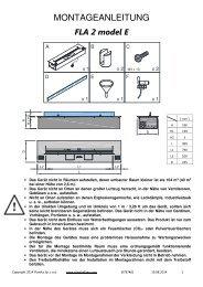 FLA 2 Modell E - Montageanleitung