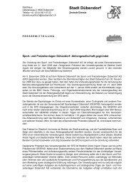 PDF Datei öffnen - Sport Freizeit Dübendorf