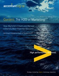 Content The H2O of Marketing