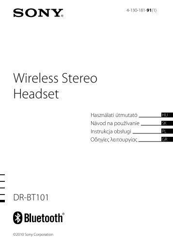 Sony DR-BT101 - DR-BT101 Consignes d'utilisation Hongrois
